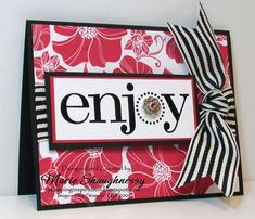 Enjoy Red & Black by Card Shark - Cards and Paper Crafts at Splitcoaststampers