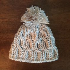 A personal favorite from my Etsy shop https://www.etsy.com/listing/243851894/cable-stitch-crochet-baby-beanie
