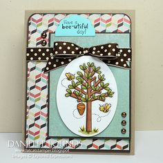 Have a bee-utiful day! Card by DanielleLounds #Cardmaking, #ShareJoy