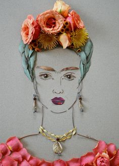 """Frida III"" Flower Face Print 