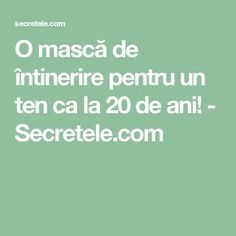 O mască de întinerire pentru un ten ca la 20 de ani! - Secretele.com Health Fitness, Hair Beauty, Men's Fashion, Eyes, Medicine, Cholesterol, Therapy, Moda Masculina, Mens Fashion