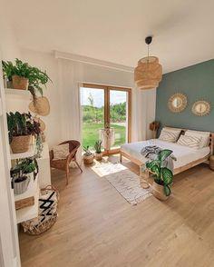 Apartment Bedroom Decor, Bohemian Bedroom Decor, Home Bedroom, Bedroom Wall, Bedroom Ideas, Master Bedroom, Boho Decor, Hygge Home, Aesthetic Bedroom