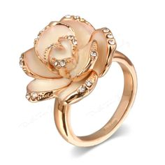 - Wear a blooming Camellia on your hand. Camellia Flower Ring features a beautiful floral design and each petal is decorated with highest grade of Austrian Stellux Cubic Zirconia that will sparkle fro
