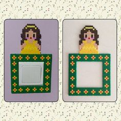 Belle switch frame perler beads by ikasuyanto