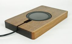 Wooden+Wireless+Charging+Station+/+Concrete+Wireless+by+fmcdesign