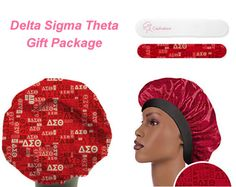 Delta Sigma Theta Gift Package - $15.00 : Captivations, Stylish and fun shower caps for everyone