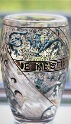 Vase Gallé, Je ne cherche que une, Émile Gallé (1878) Shot Glass, Tableware, Dinnerware, Tablewares, Dishes, Place Settings, Shot Glasses