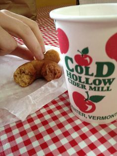 Waterbury VT,  Cold Hollow Cider Mill, fresh hot apple cider donuts!  YUM then on to Smugglers