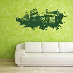 Rome Streetart World Wall Art (39in x 16in )