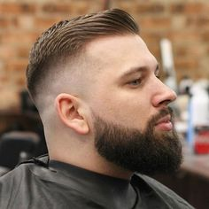 23 Best Full Beard Styles For A Badass Manly Look Guide) High Skin Fade + Side Swept Fringe + Thick Beard Thick Beard, Beard Fade, Beard Look, Short Beard, Full Beard, High Skin Fade, Beard Styles For Men, Hair And Beard Styles, Barbers