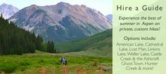 Hire a Naturalist guide for hikes in #Aspen with Aspen Center for Environmental Stuides