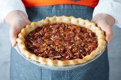 Bourbon Ginger Pecan Pie:Credit for this pie belongs to Alison Kave and her book First Prize Pies. Her special recipe adds three types of ginger to a pecan pie filling — with a splash of quality sipping bourbon, too. Pecan Pies, Pecan Pie Filling, Pie Recipes, Fall Recipes, Baking Recipes, Flour Recipes, Baking Ideas, Dessert Recipes, Nutella