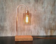 Industrial copper table lamp, Industrial lamp, Table lamps, Desk lamp, Copper lamp, Edison lamp, Lamps, Industrial design, Table lamp LLCMR