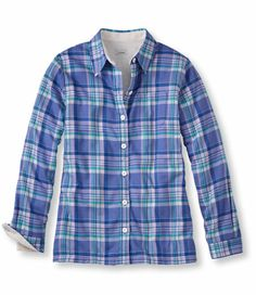 Fleece-Lined Flannel Shirt: Casual | Free Shipping at L.L.Bean- Icy Violet