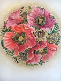 Coloring Book Art, Colouring Pages, Polychromos, Colored Pencil Artwork, Colored Pencil Techniques, Floral Drawing, Colorful Drawings, Colorful Flowers, Flower Art