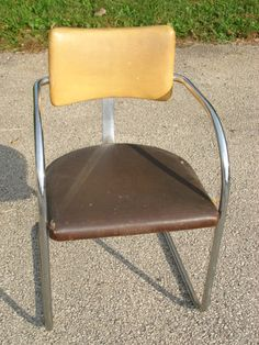 Art Deco Machine Age 1930s Chrome Chair | eBay