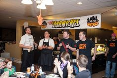 Great thanks to the chefs from Chopped who came and created amazing meals for the families.