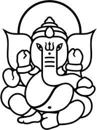 Pics For > Simple Ganesha Face Drawing Buddha Drawing, Ganesha Drawing, Lord Ganesha Paintings, Arte Ganesha, Face Outline, Outline Drawings, Easy Drawings, Ganesha Tattoo Lotus, Temp Tattoo