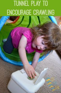 Sensory Processing Play: Tunnel Play to Encourage Crawling Proprioceptive Activities, Gross Motor Activities, Gross Motor Skills, Sensory Activities, Therapy Activities, Infant Activities, Play Activity, Play Therapy, Sensory Play