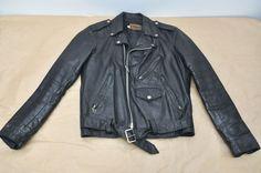 Vintage 1980's Empire MC Motorcycle Biker Cafe Racer Leather Jacket Size 38 Reg #EmpireofChicago #Motorcycle