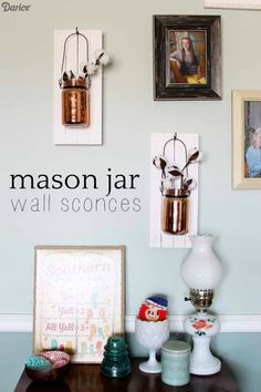 DIY Mason Jar Ideas: Wall Sconce Decorations   Darice