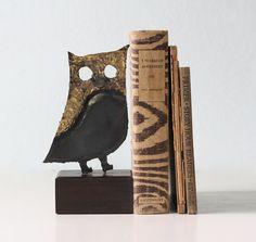 Vintage Metal Owl by bellalulu on Etsy