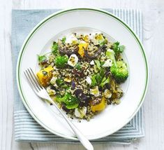 Combine this healthy grain with vegetarian ingredients. Feta cheese, pumpkin seeds, cranberries, parsley and butternut squash work together a treat