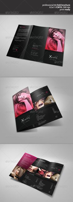 Best PSD Hair & Beauty Salon Tri-Fold Brochure Template • Only available here ➝ http://graphicriver.net/item/hair-beauty-salon-trifold-brochure/3057126?ref=pxcr