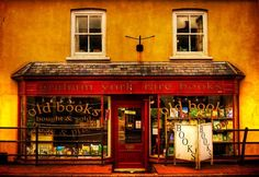 Quaint bookshop- Graham York Rare Books, Devon, England  photo via booklife