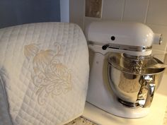 Quilted Embroidered Kitchen Aid Artisan by cathywallacedesign, $25.00