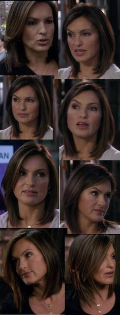 I am OBSESSED with Mariska Hargitay's hair in this SVU episode. I'm going to get this cut for fall. :)