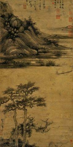 Fisherman in Reclusion at Dongting - Wu Zhen (吳鎮, 1280-1354)