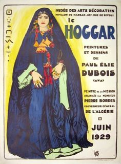 """French Posters """"Le Hoggar"""" - Southwest Gallery: Not Just Southwest Art."""