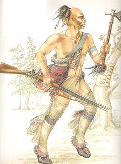 A Mohawk warrior. Native American Dress, American Indian Art, Native American Tribes, American Indians, Mohawk Warrior, Western New England, Beil, Iroquois, Le Far West