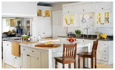 Classic Kitchen Design with Hand Painted Cabinets