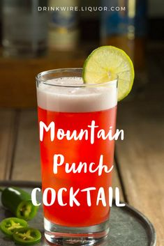 This Mountain Punch #Cocktail is a refreshing treat that you'll #love. #Vodka, pineapple, cranberry, and a hint of jalapeño will make this easy to make punch your new favorite.