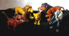 Vintage ASSORTED LOT DISNEY LION KING ACTION FIGURES Pumba Rafiki Scar Simba  #Disney