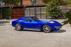 1969 Corvette Side View Blue - Provided by Hotrod