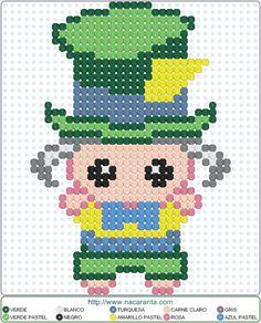 Alice in Wonderland Perler Bead Pattern