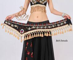 Tribal Professional Belly Dance Costume Dress Clothes Bra Belt Black s M L Gypsy Costume, Tribal Costume, Costume Dress, Hippie Outfits, Dance Outfits, Dress Outfits, Dress Clothes, Belly Dance Belt, Belly Dancers