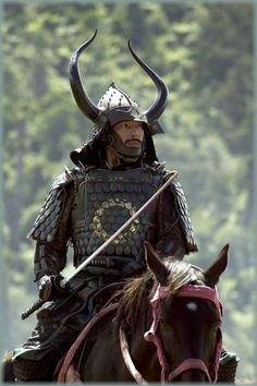 this is from the last samurai, love the horns on the helm. -- Mounted Samurai