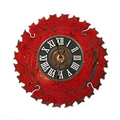 Saw a used red saw blade at the ReStore and it screamed clock. So that's what it is now. This will make a great gift for the handyman in the house.