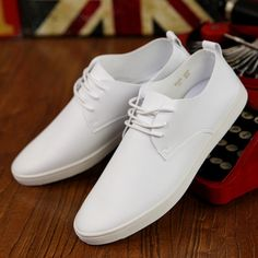 Spring Autumn New Brand Men's Vulcanize Shoes Classical Black Flat Men Casual Shoes Fashion Breathable Pure White Leather Shoes
