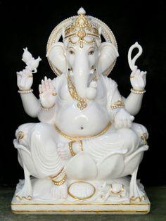Manufacturer of Marble Ganesh Statue - Marble Ganesha Statue, Lord Ganesh Marble Idol, Ganesh Marble Statue and Marble Ganesh Murti offered by Suraj Moorti Kala Kendra, Jaipur, Rajasthan Lord Ganesha, Shri Ganesh, Lord Shiva, Krishna, Ganesha Tattoo, Ganesha Art, Heart Wallpaper Hd, Shiva Shankar, Ganesh Idol