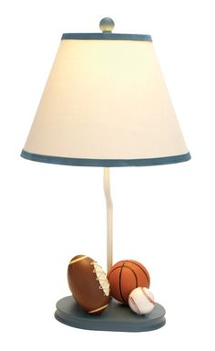 """Sports 22"""" H Table Lamp with Empire Shade"""