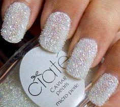 DIY winter wedding nails with ciate nail polish winter white