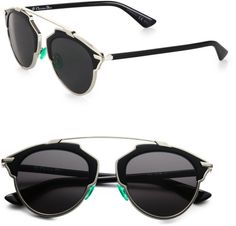 6b91013b5a80 Dior - Black So Real 55mm Pantos Sunglasses - Lyst