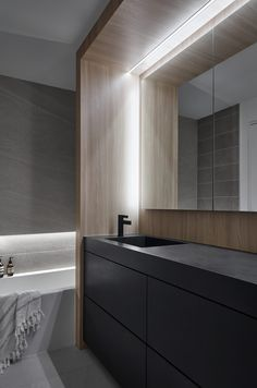 Slide is centrepiece of Walker house renovation by Reflect Architecture Modern Bathroom Design, Bathroom Interior, Bathroom Ideas, Walker House, Basement Floor Plans, Wood Cladding, Wooden Staircases, House Entrance, Toronto Canada