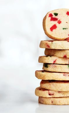 These red and green–speckled cookies are the perfect way to spread the festive spirit. If you like, substitute the cherries for another candied fruit. | Image: Canadian Living Holiday Baking 2014 | #Cookies #Christmas #HolidayBaking #TestedTillPerfect