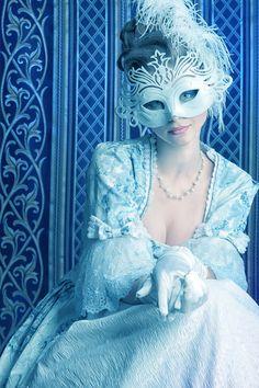 Masked Blue Beauty